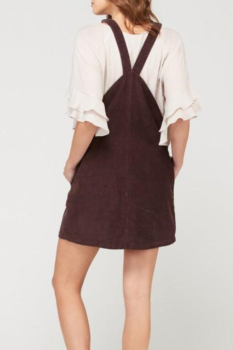 GILLY CORDUROY OVERALL DRESS