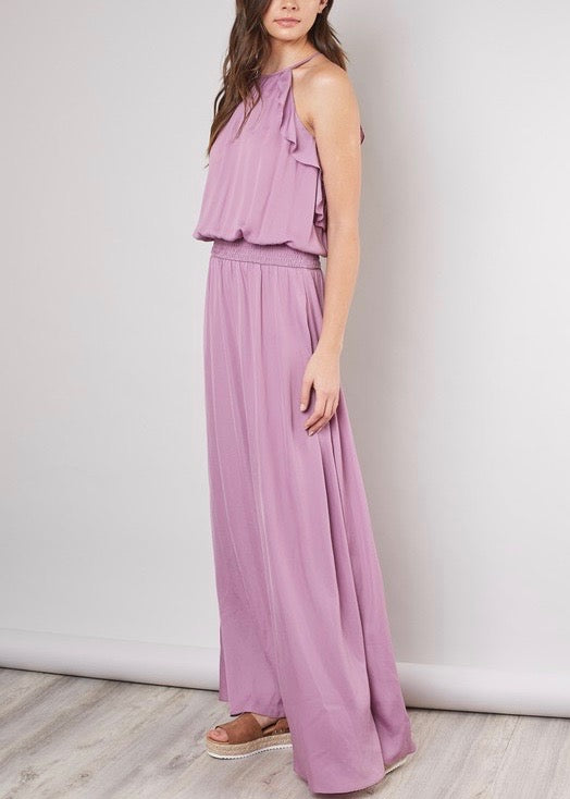 SERENA HALTER MAXI DRESS