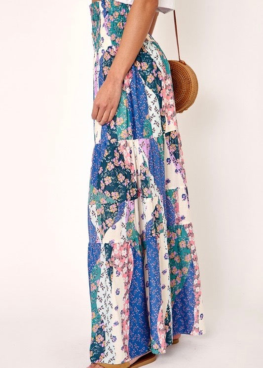 FLOWER PATCH MAXI SKIRT