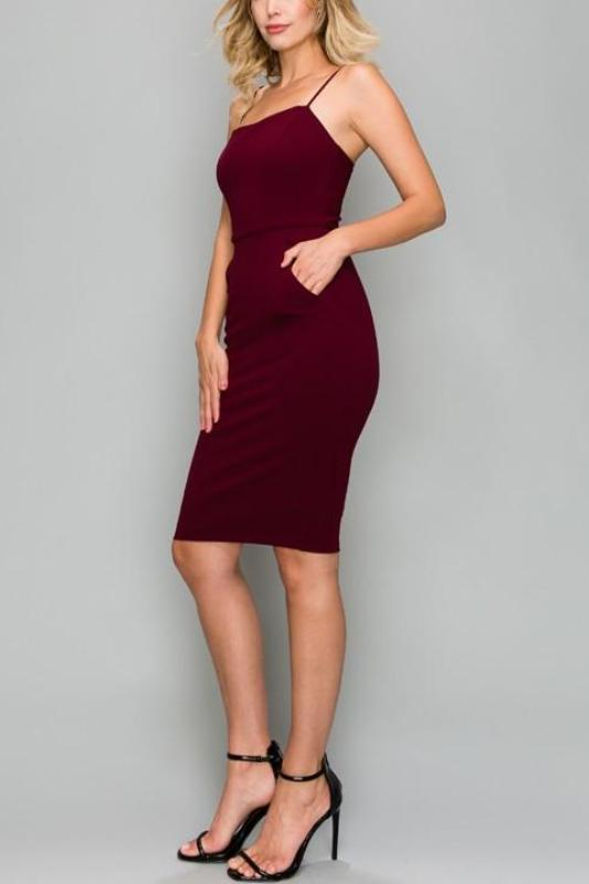 ADRIEN BODYCON MIDI DRESS