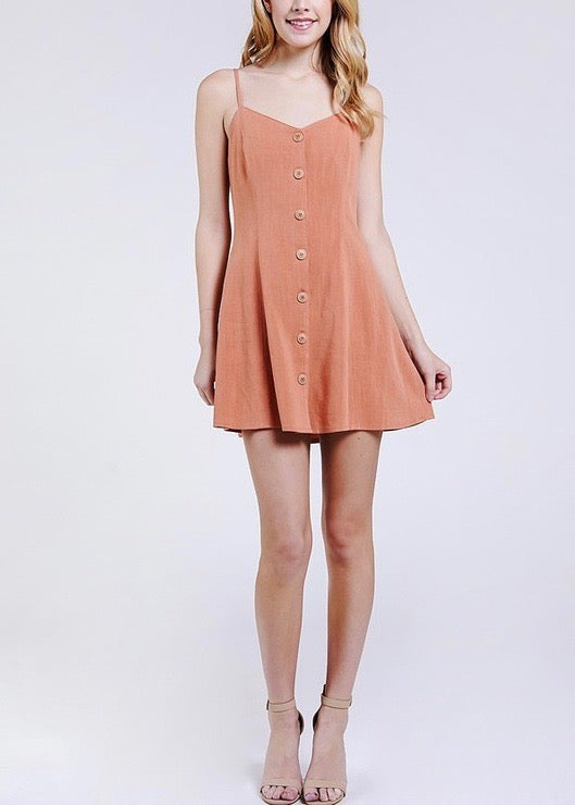 button down swing dress