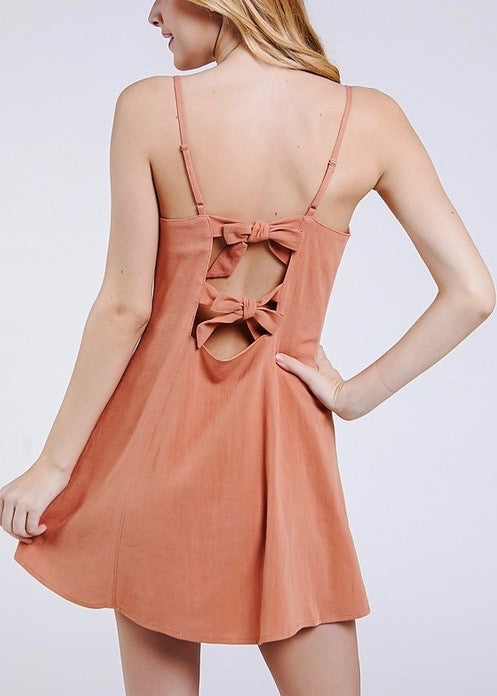 back tie dress