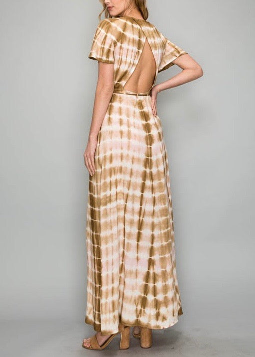 JAMIE TIE-DYE WARP MAXI DRESS