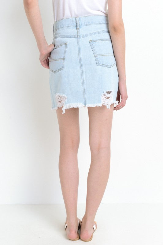 MADDIE HIGH-RISE DENIM SKIRT