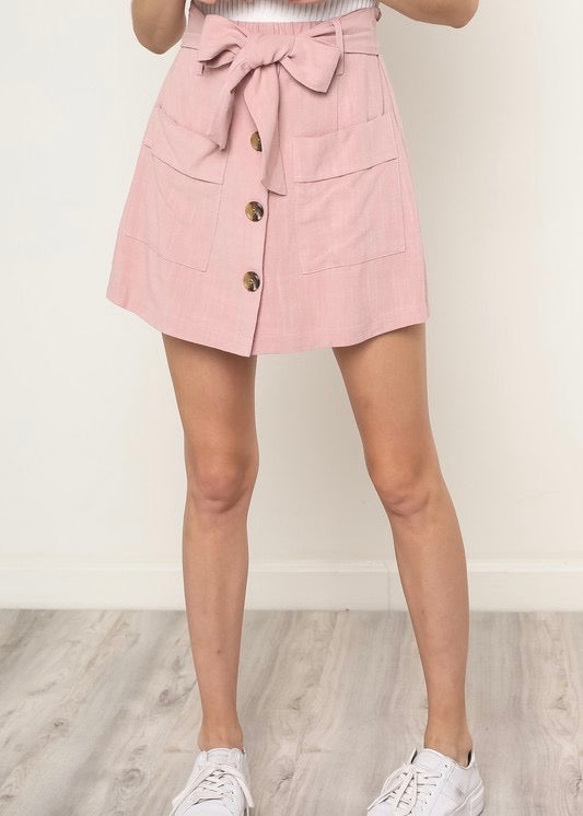 LOUISE BUTTON DOWN SKORT