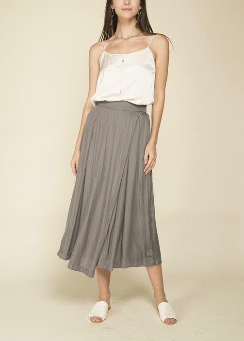 SHAY SATIN WIDE LEG PANTS