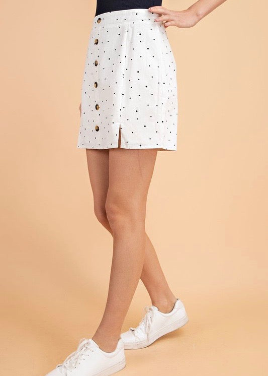 BECCA POLKA DOT MINI SKIRT