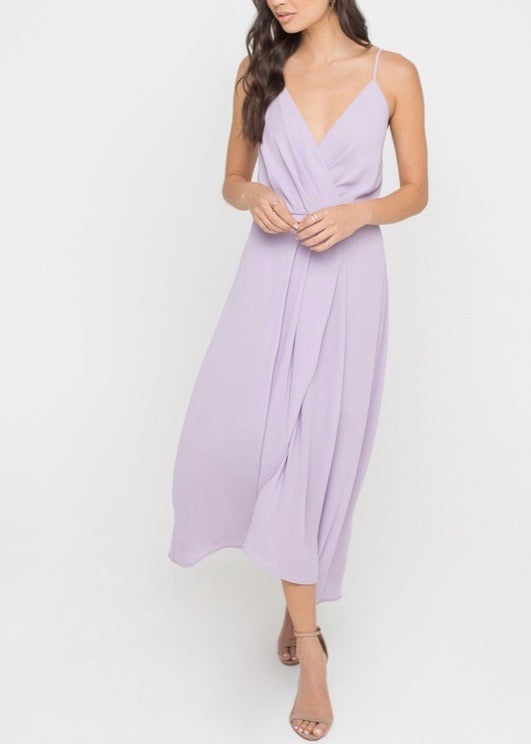 ANNABELLE PLEAT FLOWY DRESS