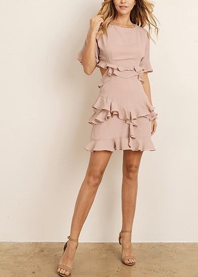 MARIANNA MINI RUFFLE DRESS