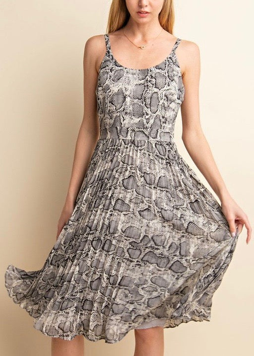 EVELYN SNAKE SKIN DRESS