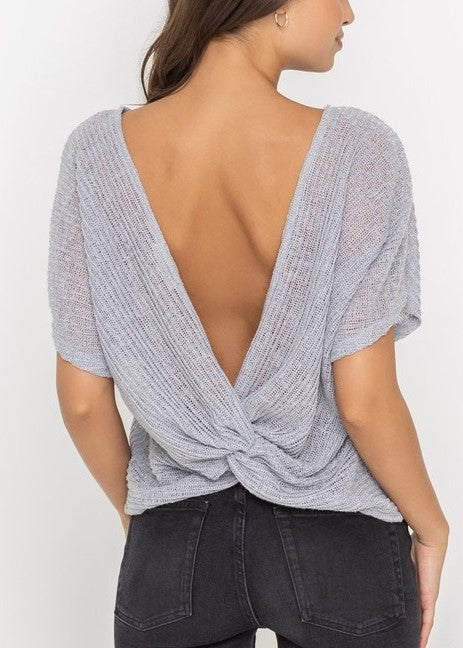 MICHELLE KNOTTED LOW BACK TOP