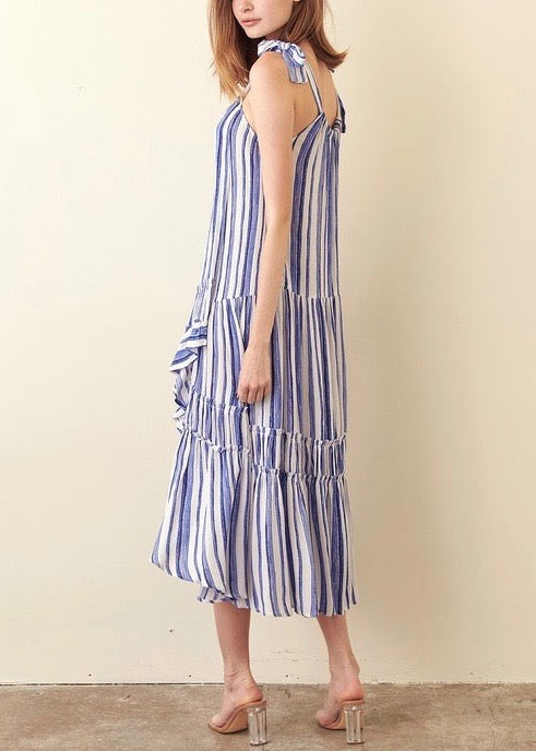 LAWRENCE MIDI TIE DRESS