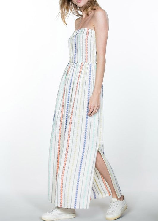JESSICA MULTI COLOR TUBE TOP MAXI DRESS
