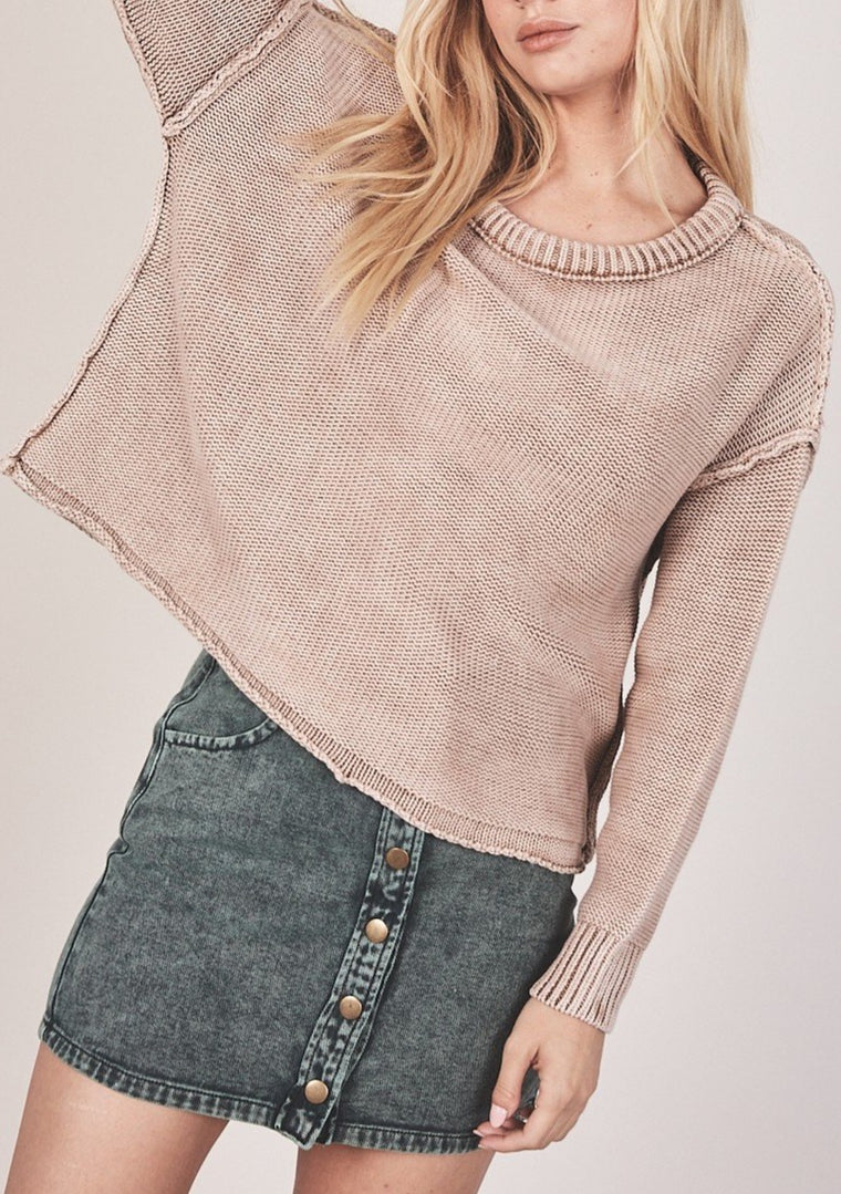 CLAUDIA BRUSHED KNIT SWEATER