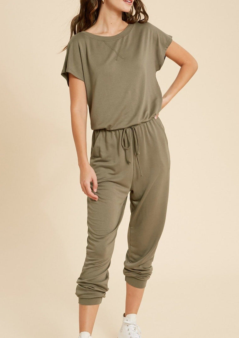 LEAH SHORT SLEEVE JUMPSUIT