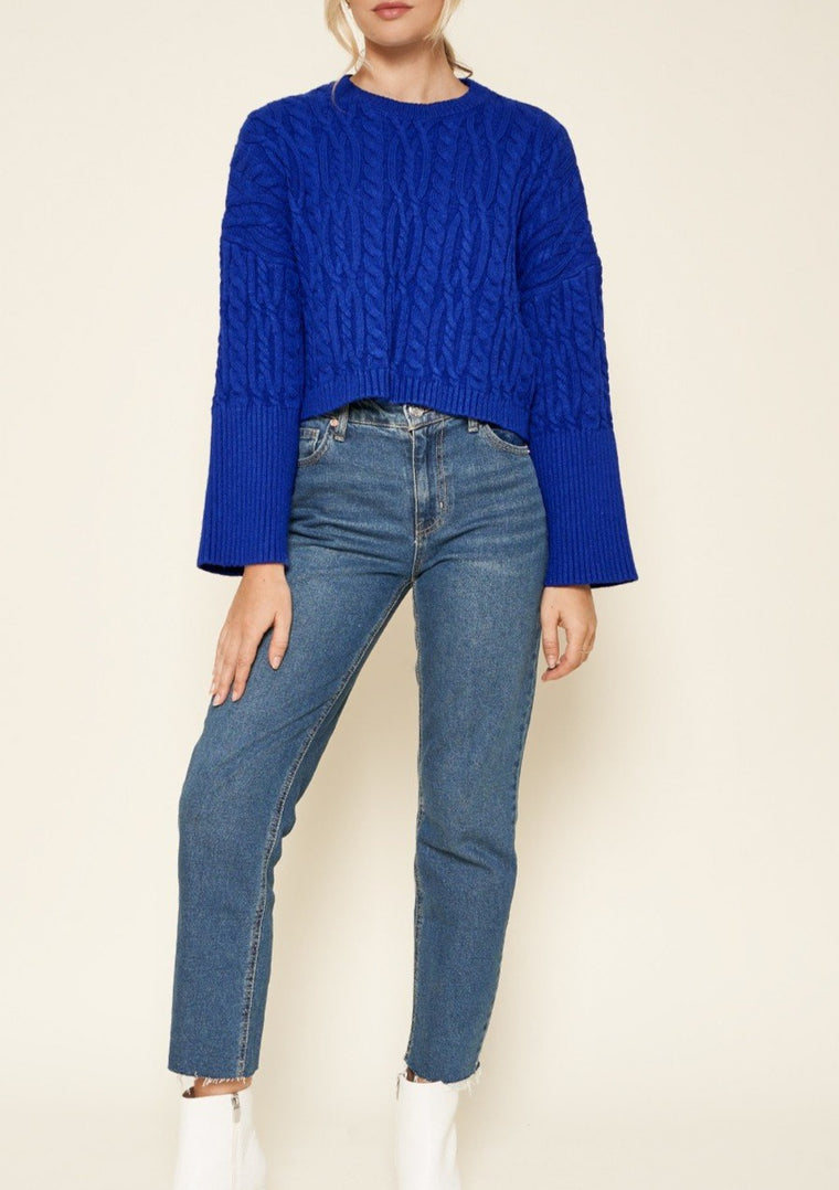 QUINN CROPPED SWEATER