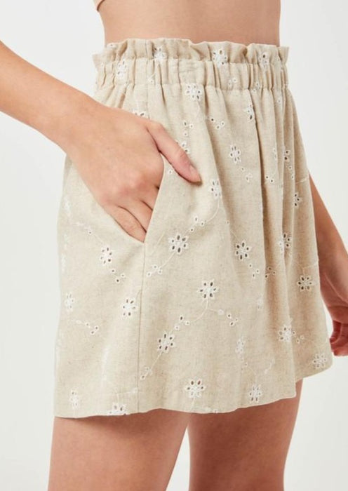 LOUIE EMBROIDERED SHORTS