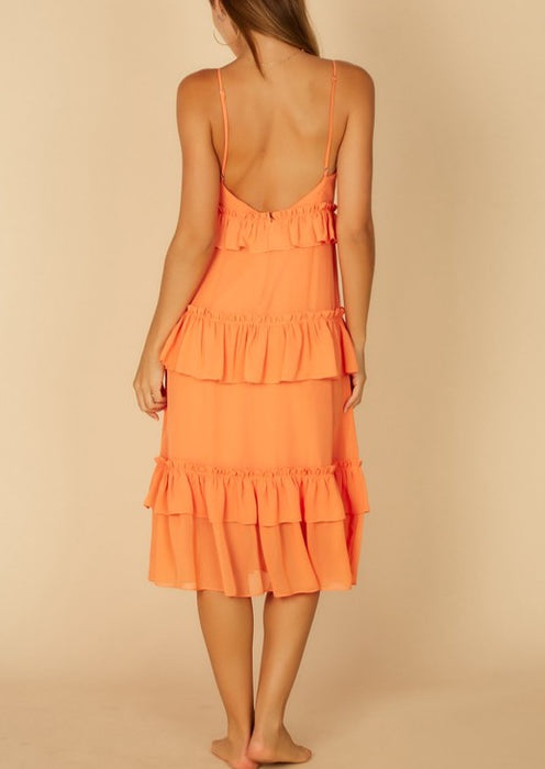 MELLIE RUFFLE DRESS