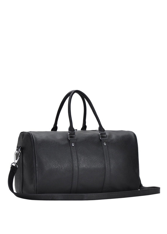 WOMEN'S VEGAN LEATHER OVER NIGHT BAG