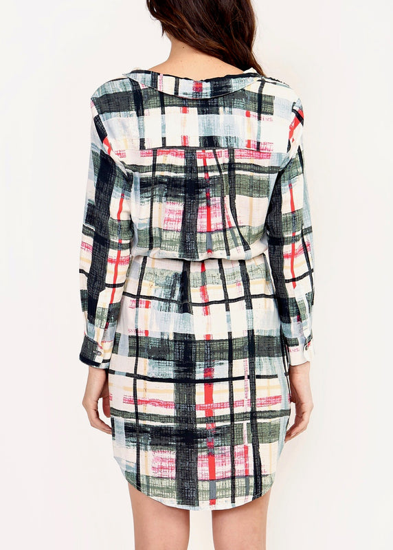 AMELIA PLAID TIE WAIST DRESS