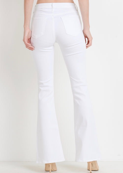 HIGH WAISTED SKINNY FLARE JEANS