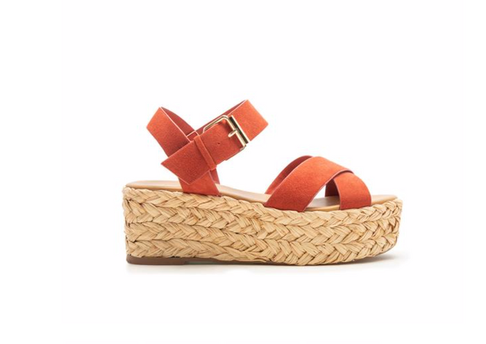 rust espadrille sandals