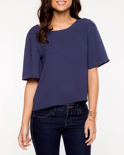 JUNE ROUND NECK MID SLEEVE TOP