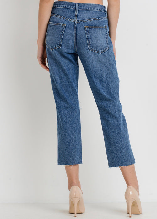 KOURTNEY DISTRESSED MOM JEANS