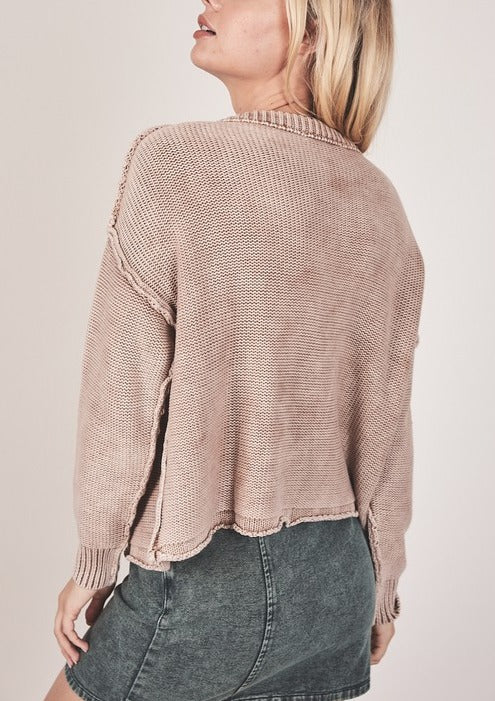 REAGAN RIBBED SWEATER