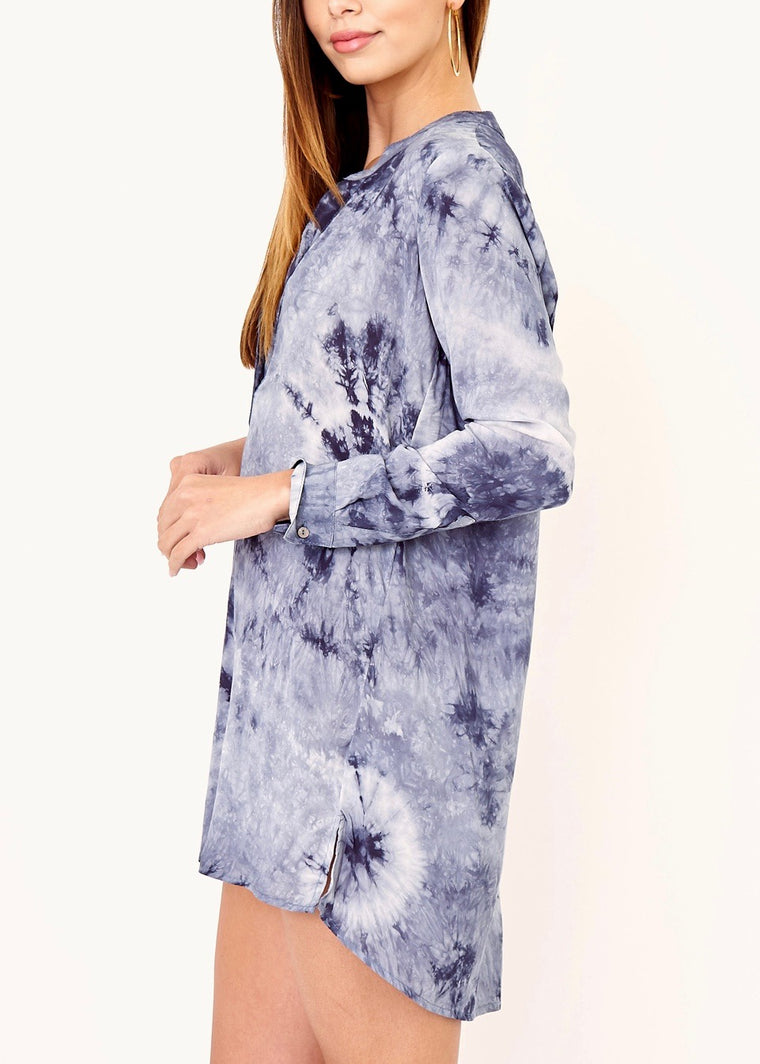 LEILA TIE-DYE COVER UP TUNIC