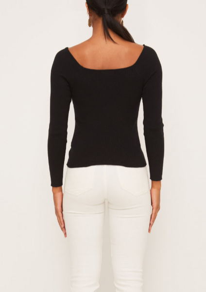 MICHELLE RUCHING SWEATER