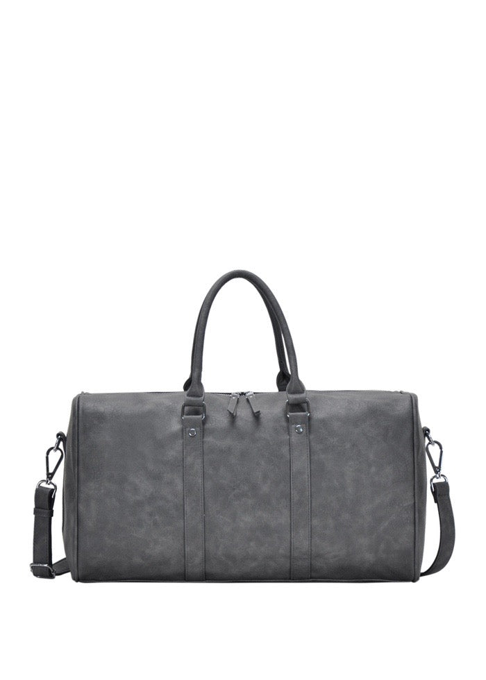 VEGAN LEATHER WEEKEND BAG