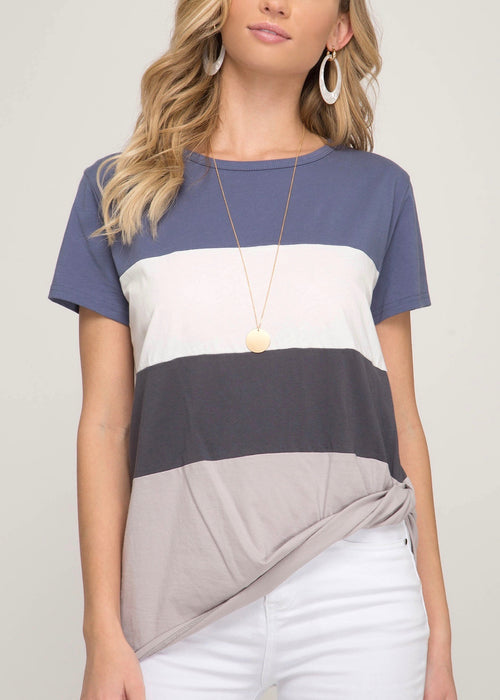 NOAH COLOR BLOCKED TEE