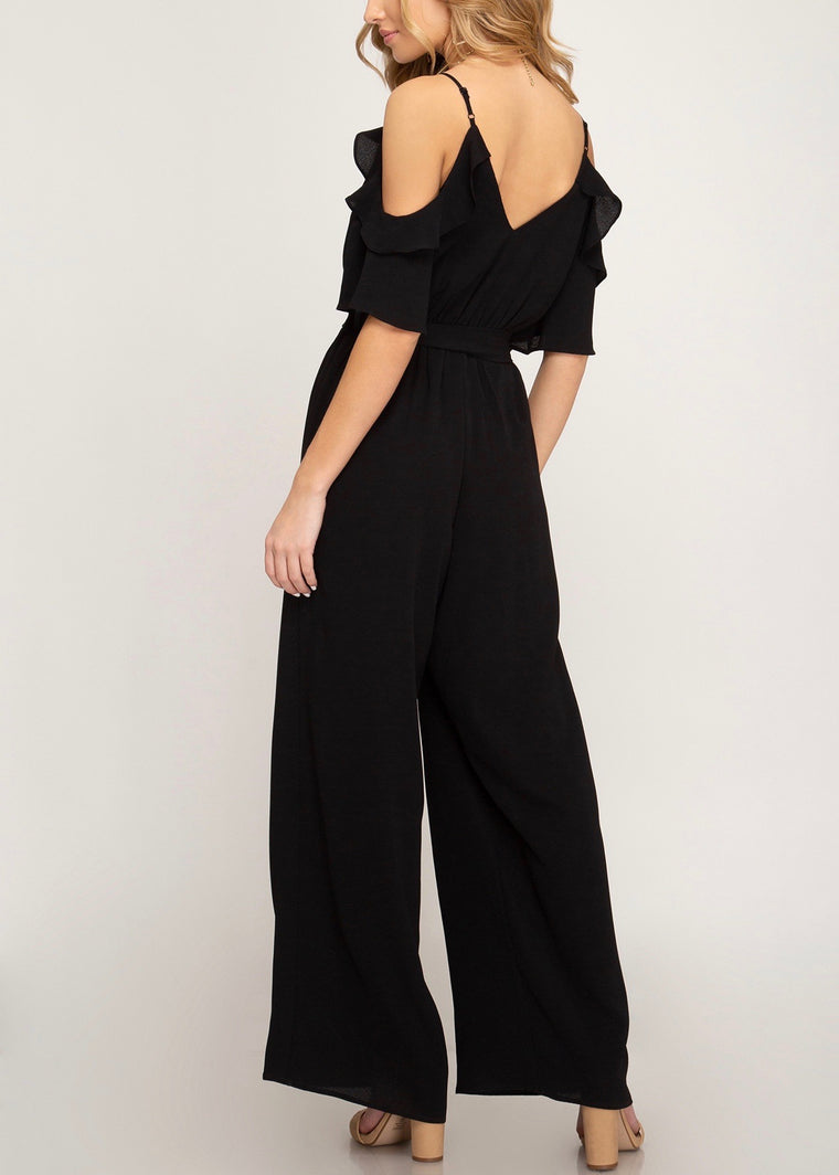 JOIE SURPLICE JUMPSUIT