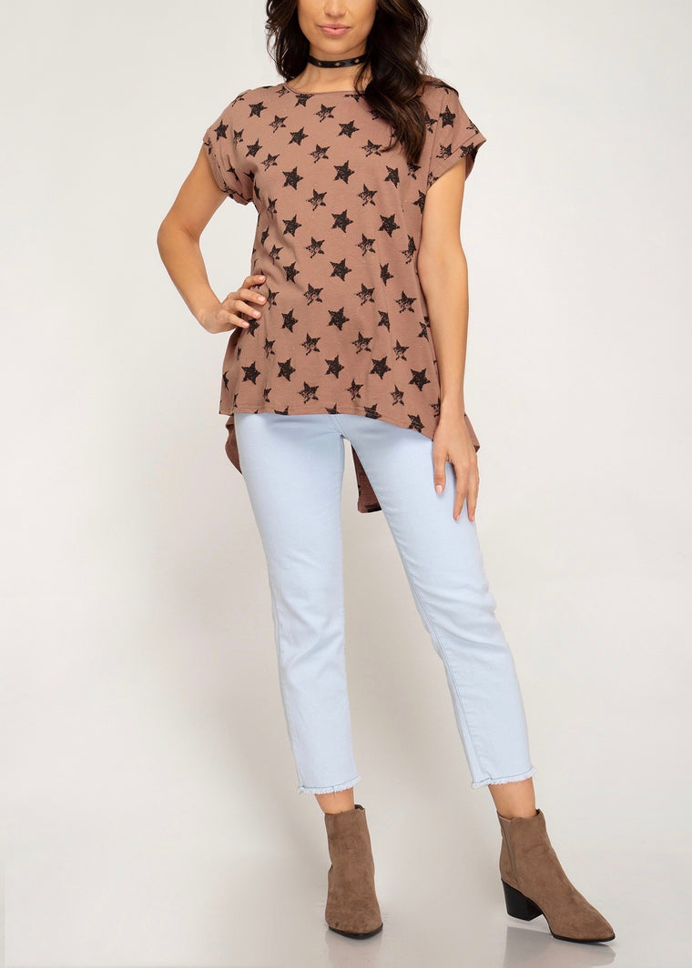 FRANNY STAR PRINTED TEE