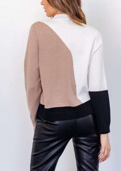 SOPHIA COLOR BLOCK SWEATER
