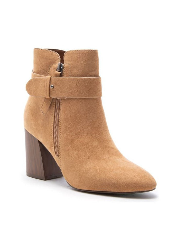 TINA BUCKLED STRAP ANKLE BOOTS
