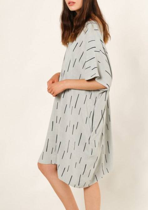 dashed linen dress