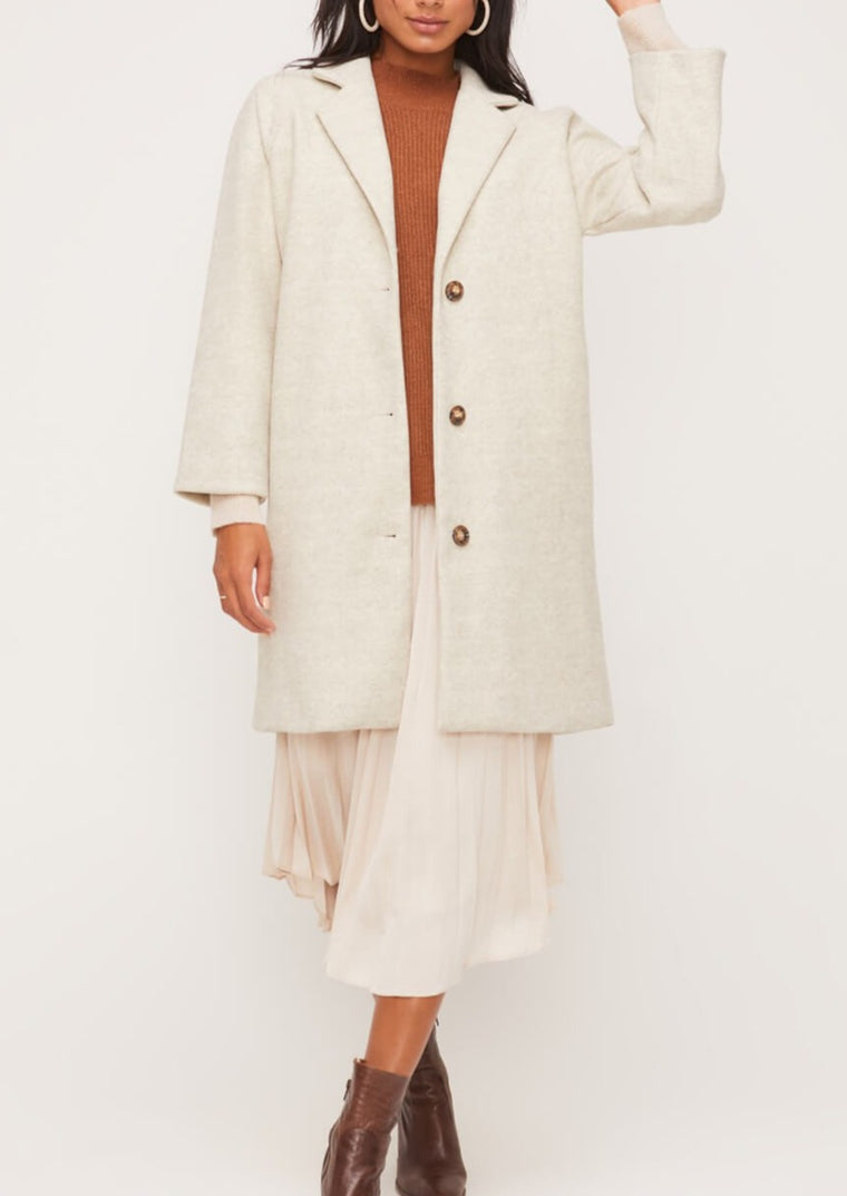 MIKALA THREE BUTTON TOPCOAT