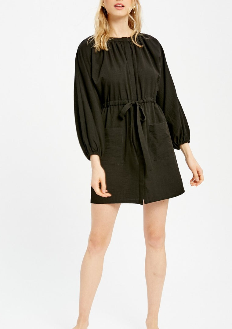 LYNN TIED WAIST MINI DRESS