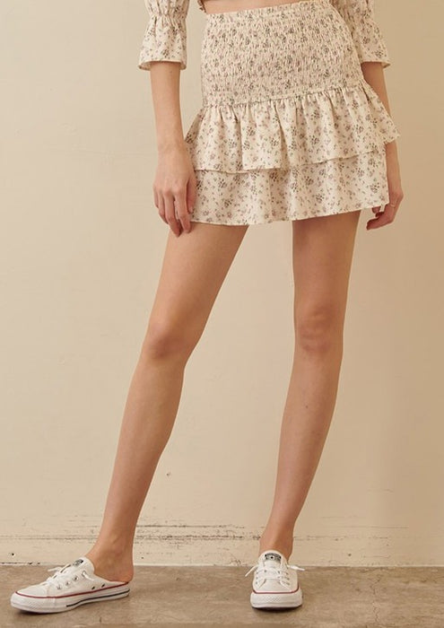 MARTY FLORAL MINI SKIRT