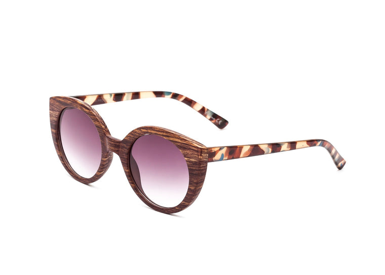 WOODEN CAT EYE SUNNIES