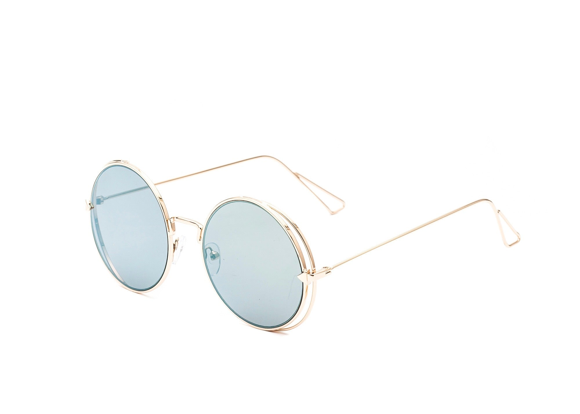 GOLD METAL ROUND SUNNIES