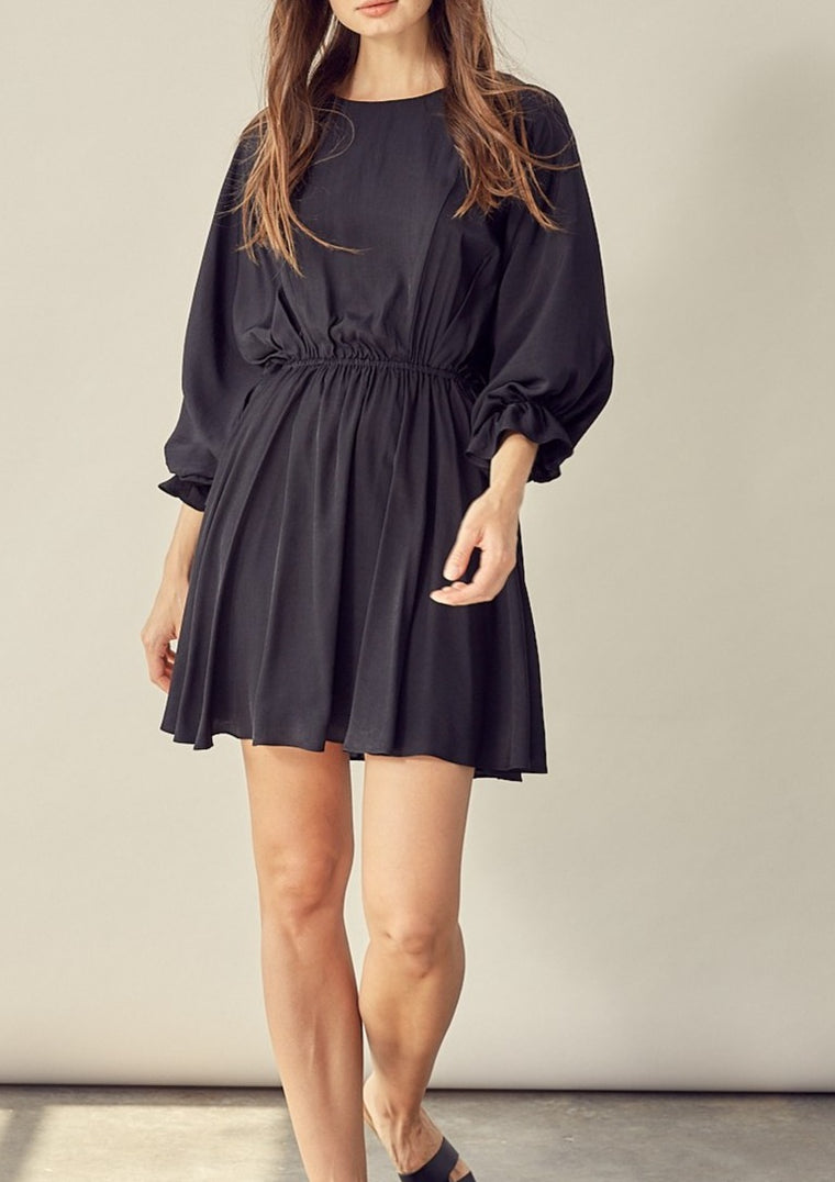 FARAH OVERSIZED SLEEVE DRESS