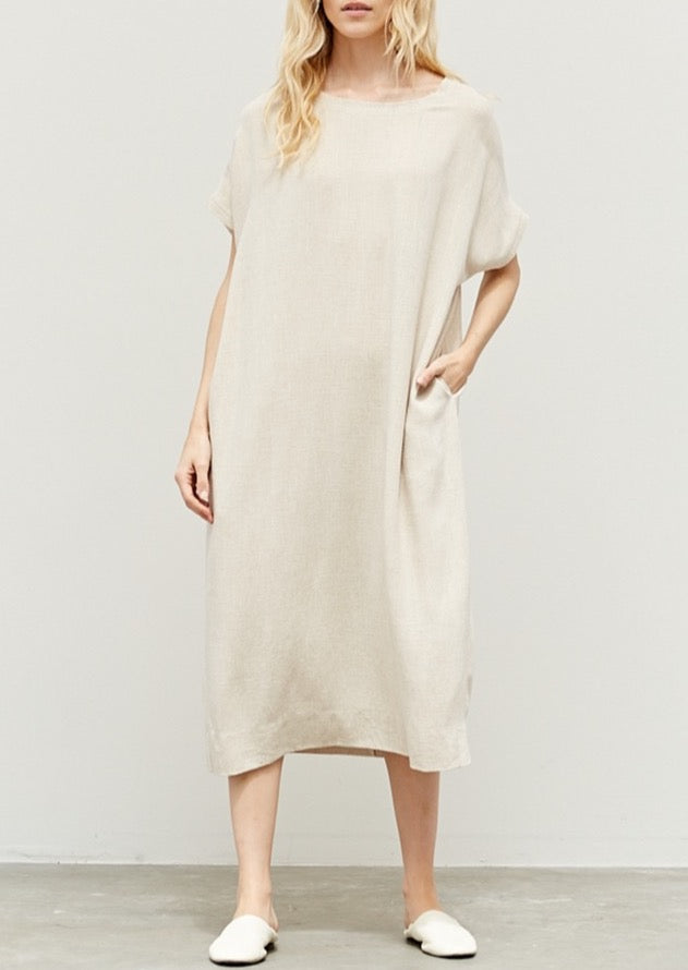 HOLLY LINEN MIDI DRESS