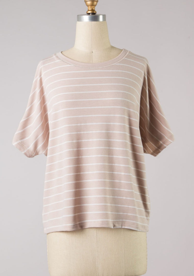 PAIGE STRIPED KNIT TOP