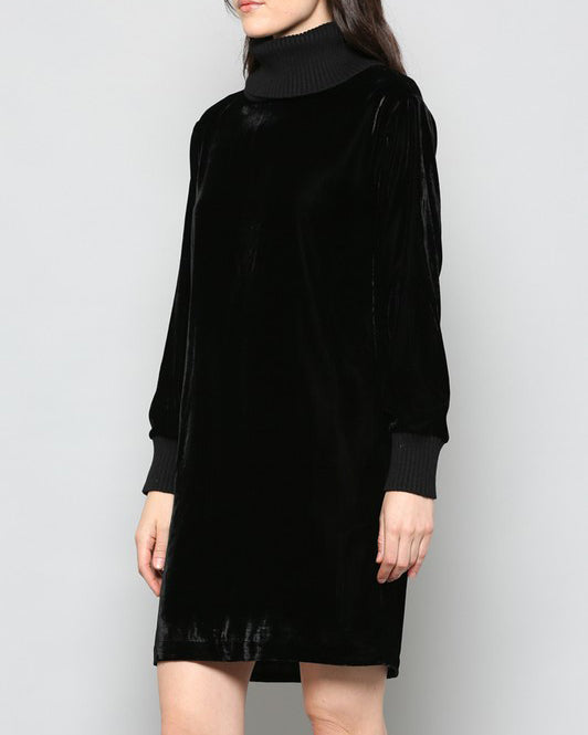 JULIAN VELVET TURTLE NECK DRESS