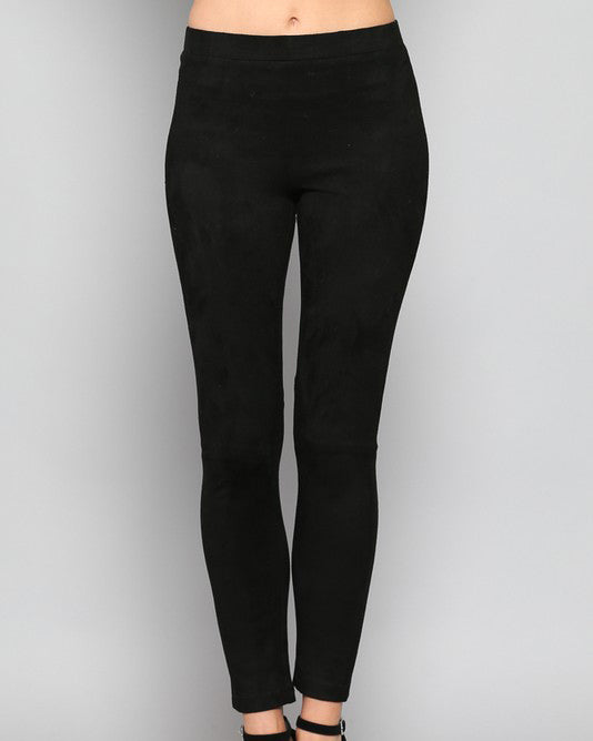 WYNNE FAUX SUEDE LEGGINGS