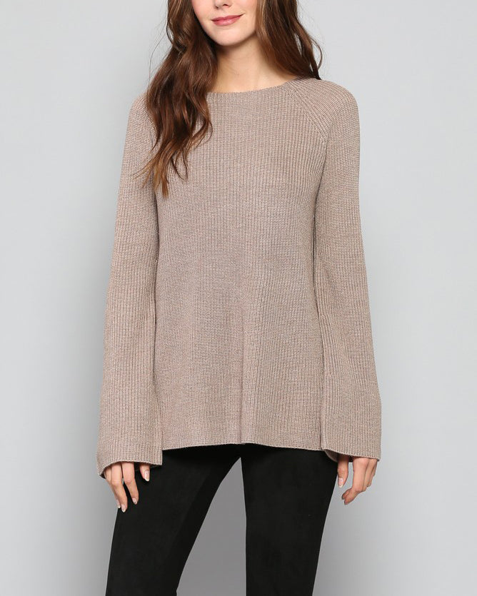 CLAIR OPEN BACK DETAIL SWEATER