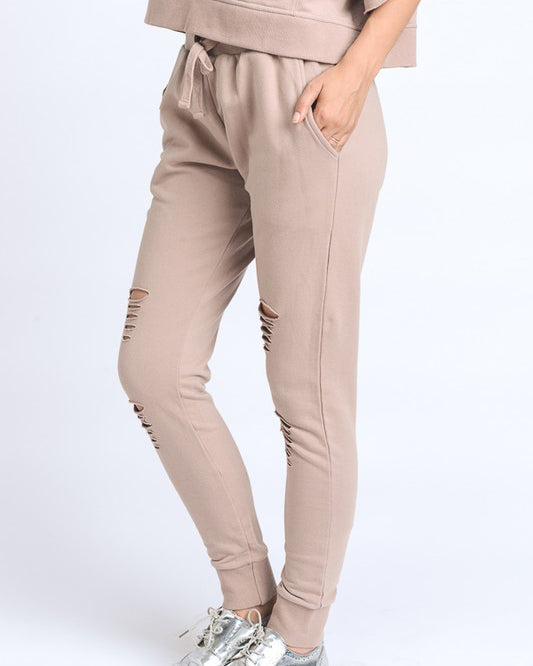 SILVIA LAZER CUT LOUNGE PANTS